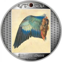 500 Francs Wing of a European Roller, 550th Anniversary of the birth of Albrecht Durer 17,50 g Ag 999 Cameroon