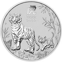 1$ Year of the Tiger 1 oz Ag 999 2022 Australia