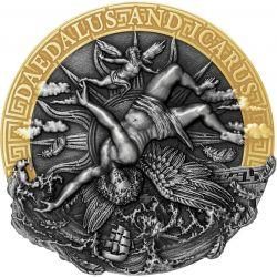 5$ Daedalus and Icarus - Mythology 2 oz Ag 999 2021 Niue