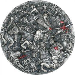 5$ Genghis Khan - Great Commanders 2 oz Ag 999 2021 Niue