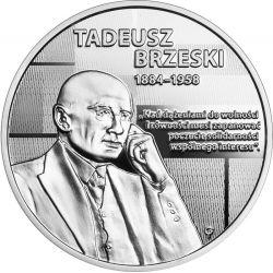 10 zł Tadeusz Brzeski - Wielcy Polscy Ekonomiści 14,14 g Ag 925