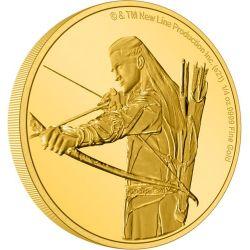 2$ Legolas - The Lord of the Rings 1/4 oz Au 999 2021 Niue