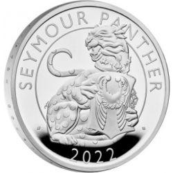 2£ Pantera Seymour - Królewskie Bestie Tudorów Proof 1 oz Ag 999 2022