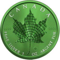 5$ Maple Leaf - Mosaic Space Green 1 oz Ag 999 2021 Canada