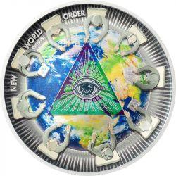 10$ New World Order - Great Conspiracies 2 oz Ag 999 2021 Palau
