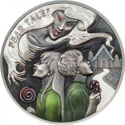 10$ Hansel and Gretel - Fear Tales 2 oz Ag 999 2021 Palau