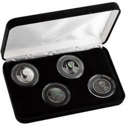 5$ Alien, Set of 4 coins 4 x 1 oz Ag 999 2021 Ghana