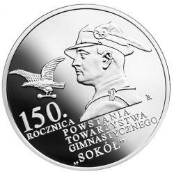 """10 zł Towarzystwo Gimnastyczne """"Sokół"""" - 150. rocznica powstania"""