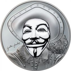 5$ Anonymous II, Historic Guy Fawkes Mask - Rewolucyjne Maski