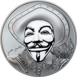 5$ Anonymous II, Historic Guy Fawkes Mask - Rewolucyjne Maski