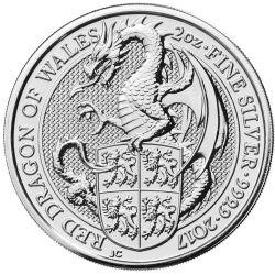5£ Czerwony Smok Walii - Bestie Królowej