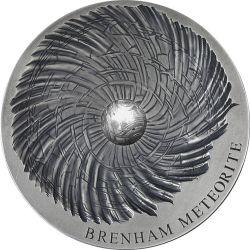 5000 Francs Meteoryt Brenham - Meteorite Art