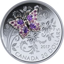 20$ Butterfly - Bejeweled Bugs