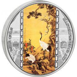 20$ Shen Quan, Pine, Plum i Cranes - Masterpieces of Art 3 oz Ag 999 2016