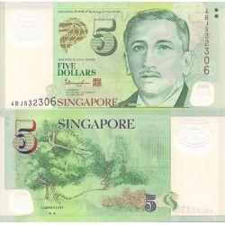 5$ Singapur Banknot