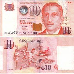 10$ Singapur Banknot