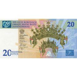 20 zł Matka Boża Jasnogórska - 300-lecie Koronacji Obrazu