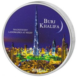2000 Francs Burj Khalifa - Landmarks at Night