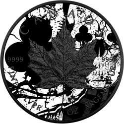 5$ Maple Club Skull, Maple Leaf - Card Suit