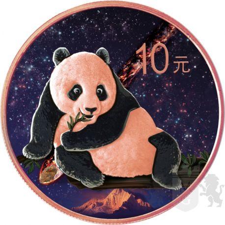 10 Yuan Nantan Meteorite China Panda 2015