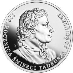 10 zł Tadeusz Kościuszko - 200. rocznica śmierci