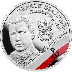 """10 zł Henryk Glapiński """"Klinga"""" - Wyklęci przez Komunistów Żołnierze Niezłomni"""