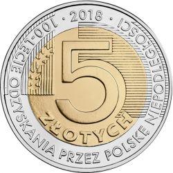 5zł 100-lecie odzyskania przez Polskę niepodległości