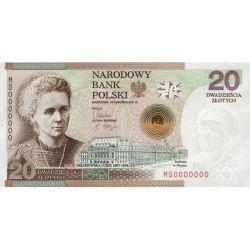 20 zł Maria Skłodowska-Curie, 100. Rocznica Przyznania Nagrody Nobla