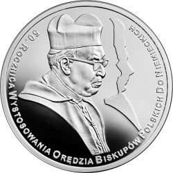 10 zł Orędzie Biskupów - 50. rocznica Wystosowania Orędzia Biskupów Polskich do Niemieckich