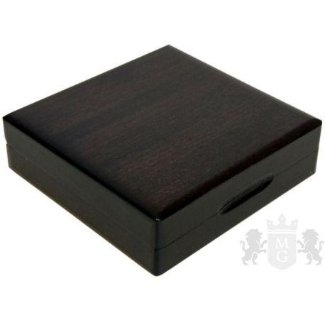 Drewniane pudełko z otworem 55 mm