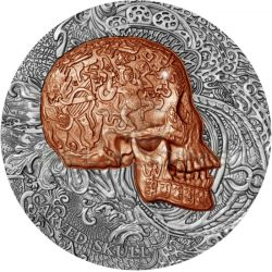 1000 Francs Carved Skull