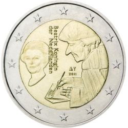 2 Euro Beatrix Koningin Holandia