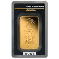 Sztabka Złota Argor-Heraeus 50 g