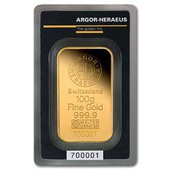 Sztabka Złota Argor-Heraeus 100 g