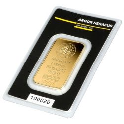 Gold Bar 1 oz Argor-Heraeus