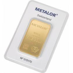 Sztabka Złota Metalor 100 g