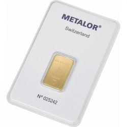 Sztabka Złota Metalor 10 g