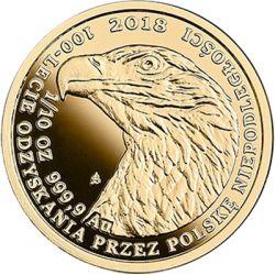 50 zł Orzeł Bielik - 100-lecie Odzyskania przez Polskę Niepodległości