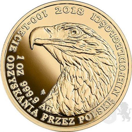 500 zł Orzeł Bielik - 100-lecie Odzyskania przez Polskę Niepodległości