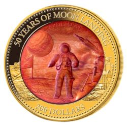 200$ Moon Landing 50th Anniversary - Mother of Pearl