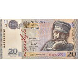 20 zł Stulecie Odzyskania Niepodległości, Józef Piłsudski, Banknot