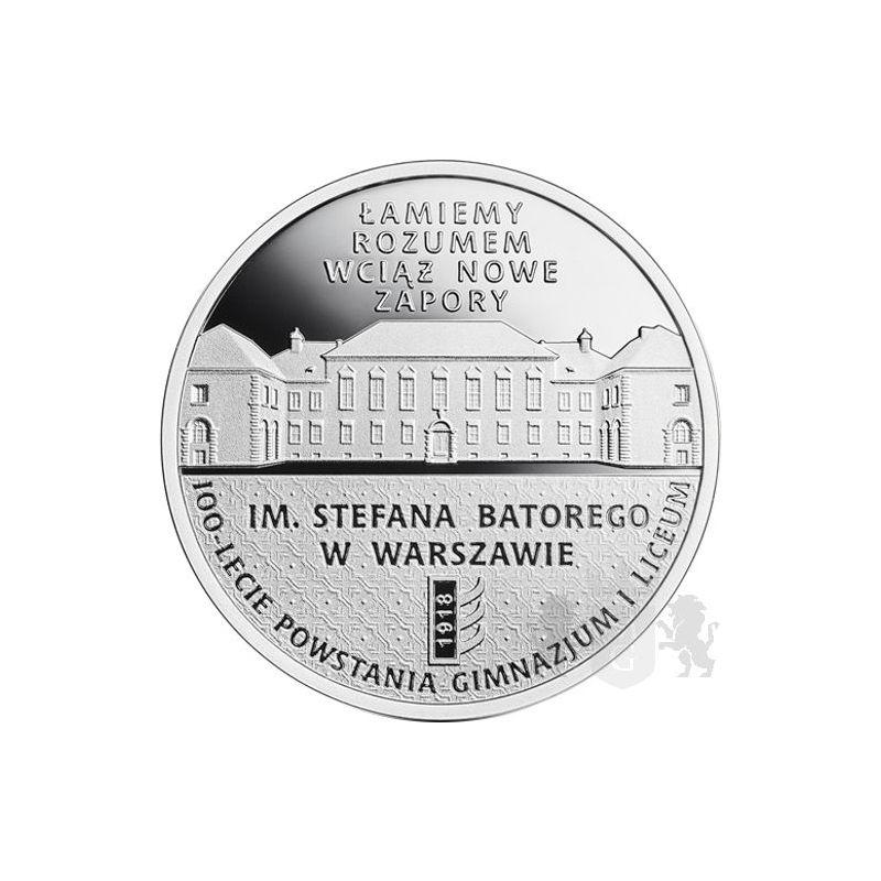 10 zł Stefan Batory Junior and Senior High School in Warsaw, 100th Anniversary
