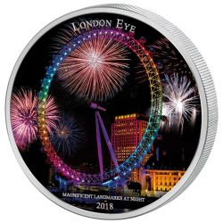 2000 Francs London Eye - Landmarks at Night
