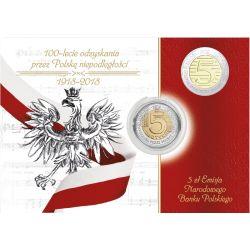 5 zł 100-lecie Odzyskania przez Polskę Niepodległości