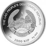 2000 Kip Rok Świni Jadeit