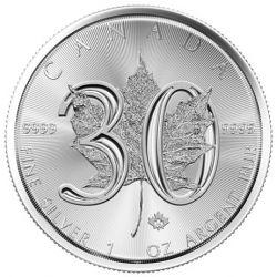 5$ Maple Leaf, 30th Anniversary
