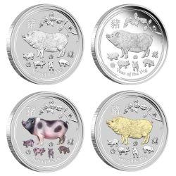Rok Świni, Zestaw 4 Monet, Perth Mint