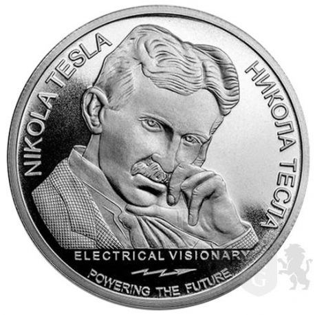 100 Dinarów Nikola Tesla
