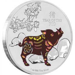2$ Rok Świni Kolor Niue