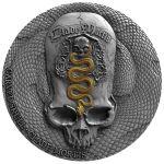 1000 Francs Clade Mortis Bones - Carved Skull